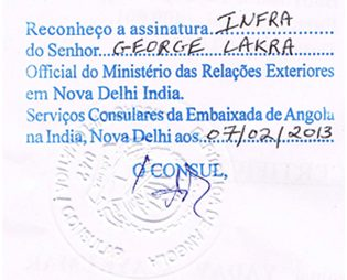 Agreement Attestation for Angola in Surendranagar, Agreement Legalization for Angola , Birth Certificate Attestation for Angola in Surendranagar, Birth Certificate legalization for Angola in Surendranagar, Board of Resolution Attestation for Angola in Surendranagar, certificate Attestation agent for Angola in Surendranagar, Certificate of Origin Attestation for Angola in Surendranagar, Certificate of Origin Legalization for Angola in Surendranagar, Commercial Document Attestation for Angola in Surendranagar, Commercial Document Legalization for Angola in Surendranagar, Degree certificate Attestation for Angola in Surendranagar, Degree Certificate legalization for Angola in Surendranagar, Birth certificate Attestation for Angola , Diploma Certificate Attestation for Angola in Surendranagar, Engineering Certificate Attestation for Angola , Experience Certificate Attestation for Angola in Surendranagar, Export documents Attestation for Angola in Surendranagar, Export documents Legalization for Angola in Surendranagar, Free Sale Certificate Attestation for Angola in Surendranagar, GMP Certificate Attestation for Angola in Surendranagar, HSC Certificate Attestation for Angola in Surendranagar, Invoice Attestation for Angola in Surendranagar, Invoice Legalization for Angola in Surendranagar, marriage certificate Attestation for Angola , Marriage Certificate Attestation for Angola in Surendranagar, Surendranagar issued Marriage Certificate legalization for Angola , Medical Certificate Attestation for Angola , NOC Affidavit Attestation for Angola in Surendranagar, Packing List Attestation for Angola in Surendranagar, Packing List Legalization for Angola in Surendranagar, PCC Attestation for Angola in Surendranagar, POA Attestation for Angola in Surendranagar, Police Clearance Certificate Attestation for Angola in Surendranagar, Power of Attorney Attestation for Angola in Surendranagar, Registration Certificate Attestation for Angola in Surendranagar, SSC certificate Attestation for Angola in Surendranagar, Transfer Certificate Attestation for Angola